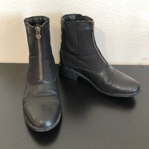 Ariat Black Leather Mesh Ankle Work Boots